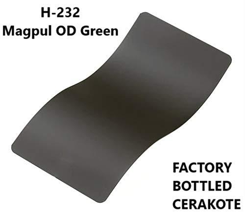 (CERAKOTE High-Temp Baked Firearm Coating Factory Packaged 4 OZ Bottle (H-232: MPUL OD Green))