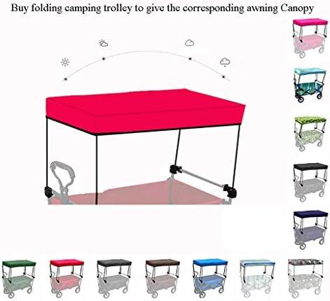 折りたたみビーチワゴン 収穫台車・キャリー 折りたたみ式ガーデントロリーカートヘビーデューティワゴン 多機能ショッピングカート 屋外キャンプ用ピクニック釣り と テーブルボードと4つの車輪、 積載量:80kg (Color : Red)