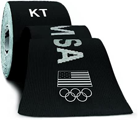 KT TAPE PRO Elastic Kinesiology Therapeutic Tape - 20 Pre-Cut 10-Inch Strips (Team USA Edition)