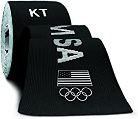 KT TAPE PRO Synthetic Elastic Kinesiology 20 Pre-Cut 10-Inch Strips, Therapeutic Tape, PRO USA Black