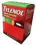 Tylenol Sinus Severe 50 packs of 2 Caplets in Each pack, Dispenser Pouch Box