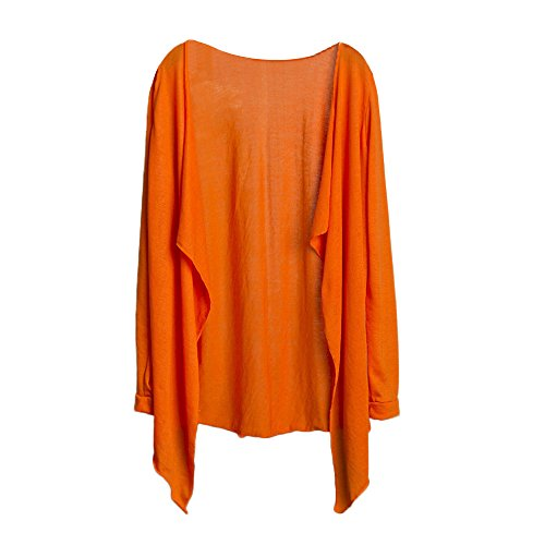 Thin Autumn Outerwear Modal for Women Sleeve Blouse Sun Long XOWRTE Long Cardigan Coat Protection Jacket Orange White Tunic Z1wqpA0F