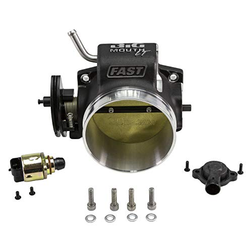 FAST 54091 Big Mouth LT Billet 92mm Throttle Body for GM LS w/TPS and IAC