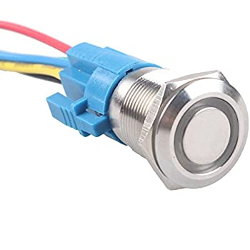 41iu2 M8RpL._SL500_AC_SS350_ amazon com e support 19mm 12v 5a car white light angel eye metal  at edmiracle.co