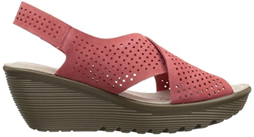 Skechers Womens Parallel Infrastructure Wedge Sandal, Coral, 8.5 M US