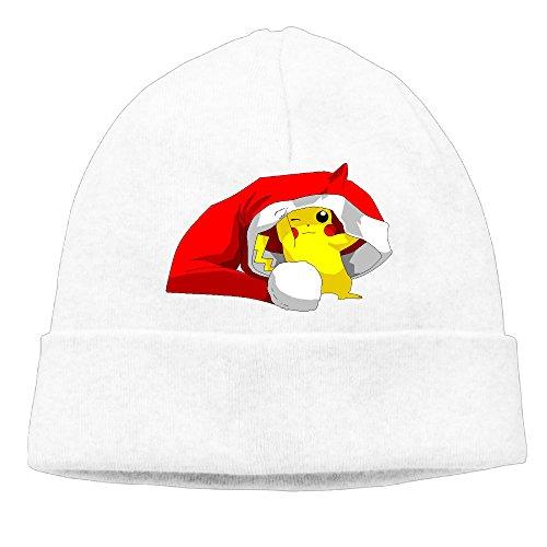 BigBang Adult Poke Christmas Beanie Skully Cap Hat Watch Cap Ski Cap Hat White (Luke Kirby Halloween)