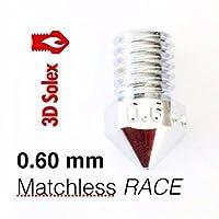 3D Solex UM2 Matchless Nozzle - 1.75mm Filament, 0.60mm RACE from 3D Solex