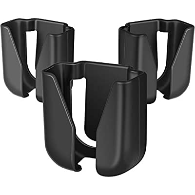 3 Pieces Stethoscope Holder Clip Waist Belt Stethoscope Holder Clip Plastic Nursing Stethoscope Holder Clip for Nurses Physicians, Black