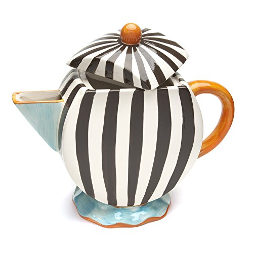 La Cote Blue Brulee Oversized Tea Pot, Multicolor