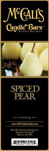 McCall's Country Candles Candle Bar 5.5 oz. - Spiced - Pear Candle Spiced