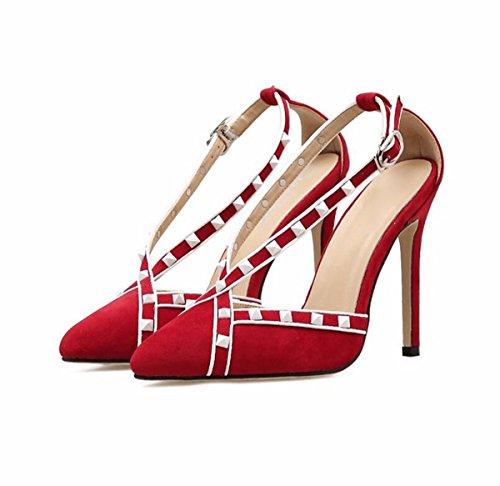 con Sandalias De gules Verano Mujer Hadas Coreano KPHY Acorde Medio Moda De Hebillas Zapatos Faldas Tacón UqwaTTHn