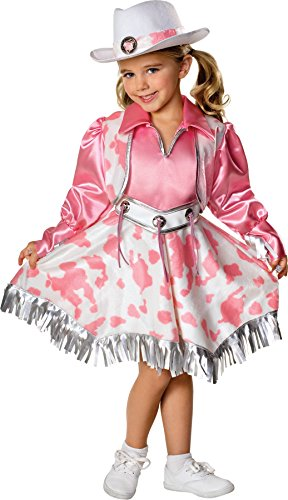 [UHC Western Diva Pink Cow Girl Rodeo Toddler Fancy Dress Child Halloween Costume, 2T-4T] (Baby Girl Marvel Costumes)