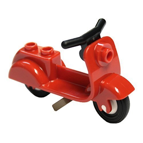 LEGO Parts and Pieces: Red Moped Scooter