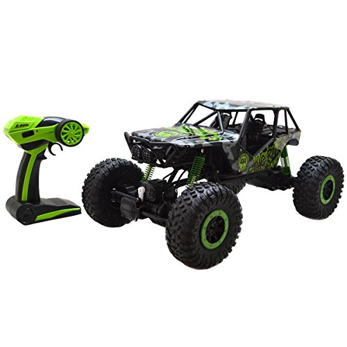 Costzon 1/10 Scale Off-Road Vehicle, 2.4Ghz 4 Wheel Drive Rock Crawler with Radio Remote Control RC Car, ()