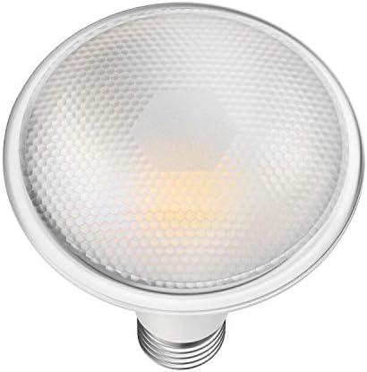 ledscom.de E27 PAR30 LED Reflektor-Lampe 12W 1300lm weiß A+ auch wetterfest mit langem Hals, 6 Stk.