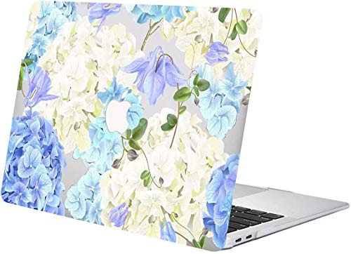 """ACJYX Case for MacBook Pro 13 inch 2020 2019 2018 2017 2016 Release A2289 A2251 A2159 A1989 A1708 A1706 Smooth Plastic Protective Shell with Patterns Laptop Cover for MacBook Pro 13"""", Blue Flowers"""