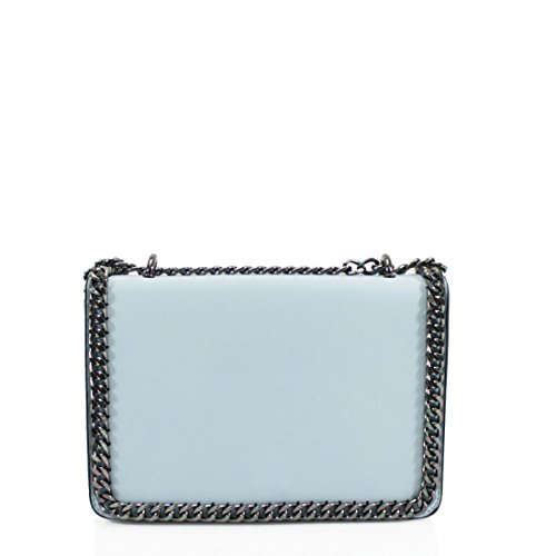 Para Charol Riddled De With Azul Hombro Mujer M Bolso Style Claro Al RRZw0gq