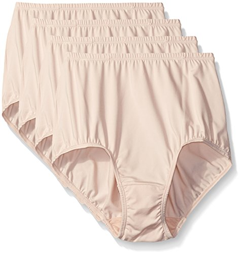 Warner's Women's 4 Pack Without A Stitch Brief, Butterscotch, 6