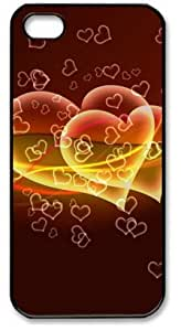 For Iphone 5C Phone Case Cover PC Hard Shell Flying Hearts Black Skin by Sallylotus