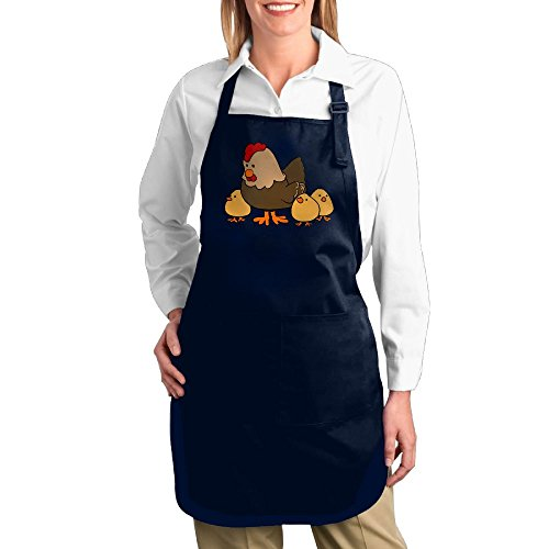 [Dogquxio The Chicken Mother And Its Children Kitchen Helper Professional Bib Apron With 2 Pockets For Women Men Adults Navy] (Dragon Dance Costume For Sale)