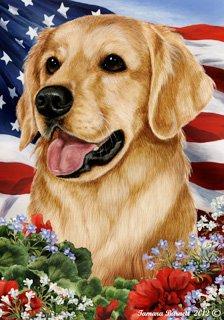 Golden Retriever Dog - Tamara Burnett Patriotic I Garden Dog Breed Flag 28'' x 40''