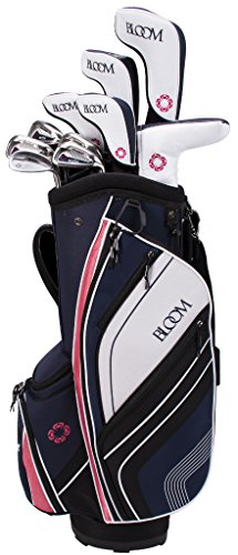 Cleveland Golf Bloom MAX Navy Box Set (Women's, Right Hand, Ladies, Driver, 3 Wood, 5-6H, 7-PW, SW, Graphite, Putter and Cart Bag)
