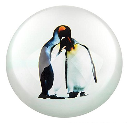 80 MM DOME PAPERWEIGHT 2 PENGUINS, Case of 72