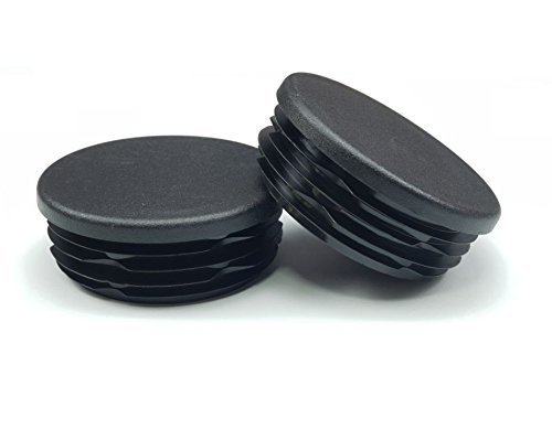 2 Inch OD Round Black for Plastic Plug by Cap Cover Tube Durable Chair Glide Insert Finishing Plugs 8 Pack OGC