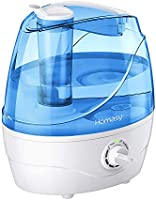 Homasy Cool Mist Humidifiers, 28dB Whisper-Quiet Humidifiers for Bedroom, Easy to Clean & Control Air Humidifier, Auto...