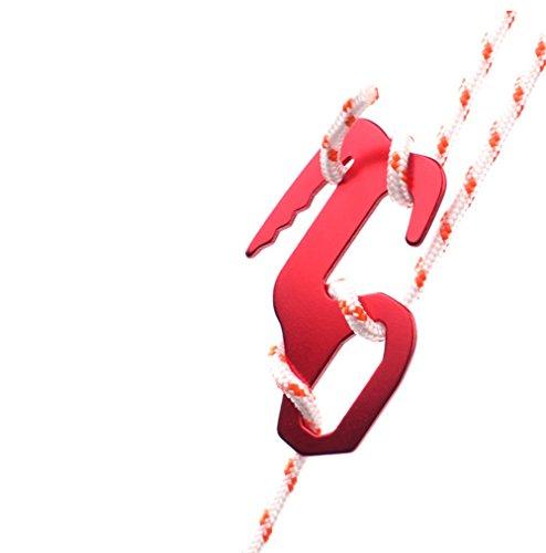 Shimmery Outdoor Rope Tightener Figure 9 Carabiner, Small(6 Pack Figure 9 - Tool Figure Rope 9 Tightener