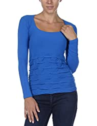 Last Tango Womens Seamless Puckered Long Sleeve Ultra Comfortable