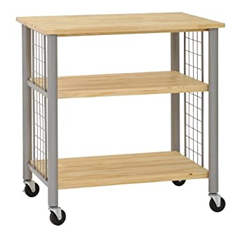 Exceptionnel Sandusky Lee MKT342435 Wood Kitchen Utility Cart, 36u0026quot; Length X  24u0026quot; Width X