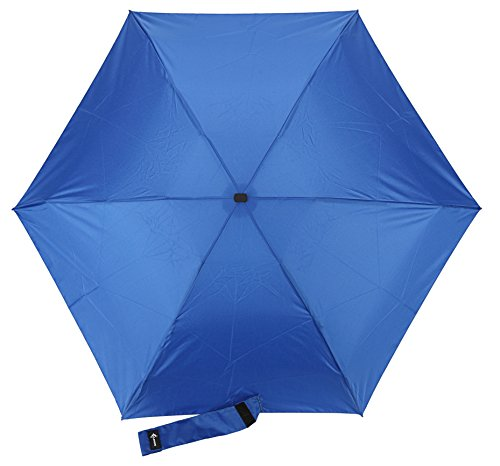 Travel Umbrella with Waterproof Case - Small, Compact Umbrella for Backpacks, Purses, Briefcases or Cars - Versatile, Unisex Design - Made with Water-Resistant Pongee Fabric - Premium Quality - Blue by Vumos (Image #4)