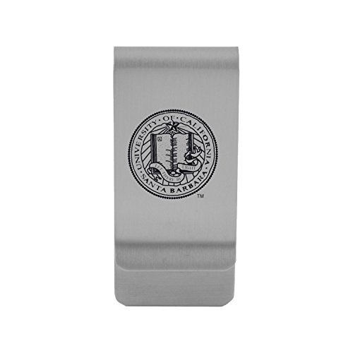 University of California, Santa Barbara|Money Clip with Contemporary Metals Finish|Solid Brass|High Tension Clip to Securely Hold Cash, Cards and ID's|Gold (Santa Clip)