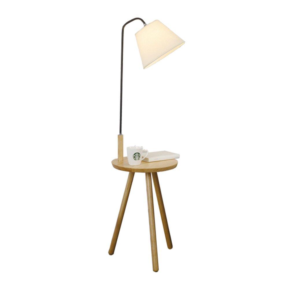 ソリッドウッドフロアランプクリエイティブベッドルームベッドサイドテーブルランプスタディリーディングランプE27光源 ( 色 : A , サイズ さいず : ボタンスイッチ ) B078YTD8LY 25240  A ボタンスイッチ