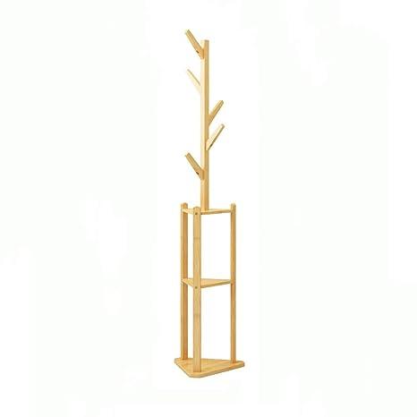 Amazon.com: Perchero simple de madera maciza para colgar en ...
