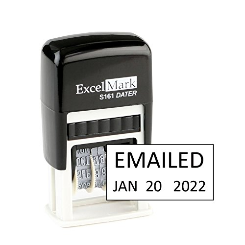 ExcelMark Emailed Date Stamp - Compact Size (Black Ink)