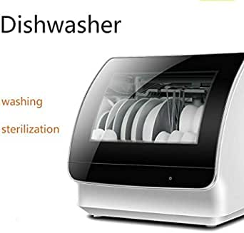 Dorms Countertop Dishwasher Machine,Portable 3D Cyclone Spray Compact Dishwashers Fruit Vegetables Dishes Cleaning Air-Dry Function,4 Washing Programs and LED Light for Small Apartments