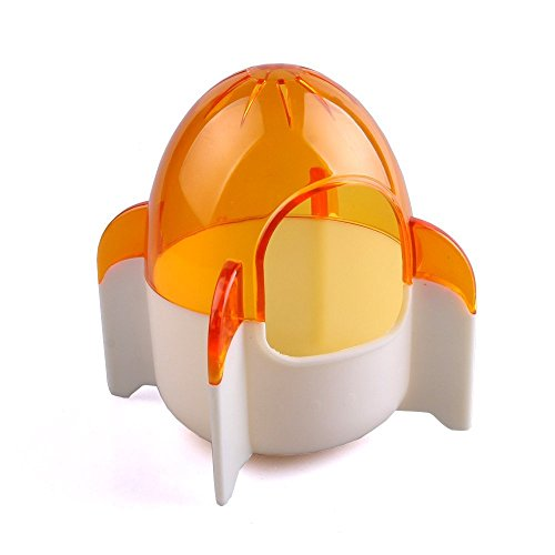 Wildforlife Cute Rocket Style Hamster Toiltet Bath House (Orange)