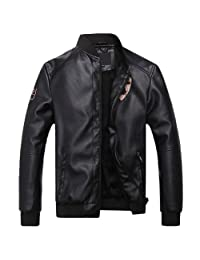 Colorfulworldstore Autumn Men's leather jackets Coat-Men's Korean leather jacket