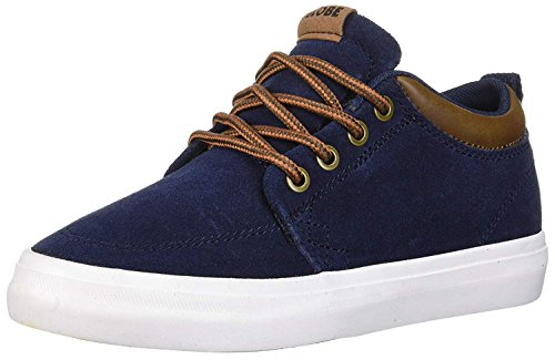 Kids Shoes Globe - Globe Boys' GS Chukka Skate Shoe, Navy Suede, 2 M US Little Kid