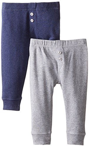 Petit Lem Baby-Boys Newborn 2 Pack Pant, Navy, 3 Months Newborn Baby Boys Sweatpants