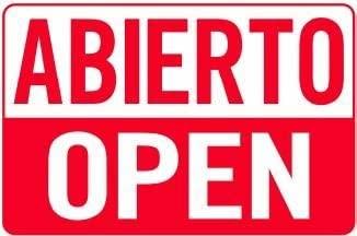 C B Signs L.E.D.. Señal de plástico acrílico Abierto Open ...
