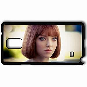 Personalized Samsung Note 4 Cell phone Case/Cover Skin Amanda Seyfried Eyes Celebrities Black by icecream design