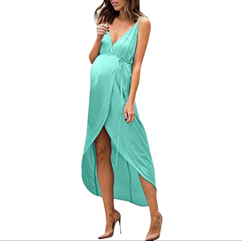- Iusun Women's Maternity Sling Dress Elegance Suspender Sleeveless Sundress Nursing Breastfeeding Pregnants for Summer Daily Vacation Holiday