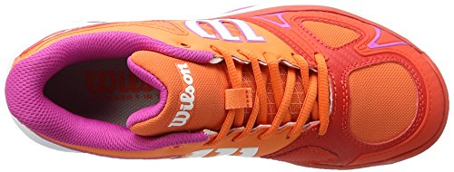 Wilson Rush Evo W Nasturtium/Fiery Red/Rose V 5, Scarpe da Tennis Donna, Arancione (Nasturtium/Fiery Red/Rose Violet), 38 1/3 EU