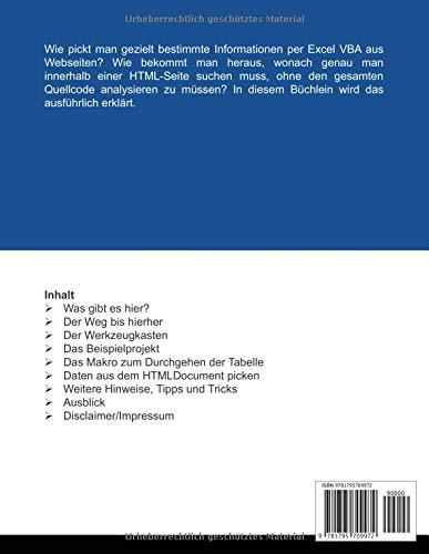 Datensauger-Konvertierung von HTML zu Excel: VBA-Lösungen