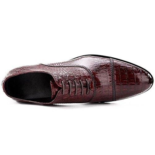in Casual Pelle Modello Scarpe in Lavoro Eleganti da Red da Uomo Coccodrillo Scarpe Pelle SqAfavaw