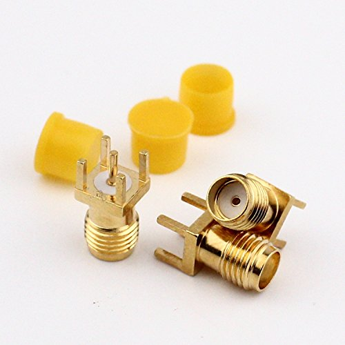 Socket Coaxial (AMZVASO - SMA Female socket sma Female connector SMA RF coaxial connector gold-plated copper with cap 10pcs/lot)