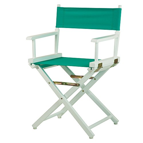 Casual-Home-18-Inch-Director-Chair-White-Frame-Teal-Canvas